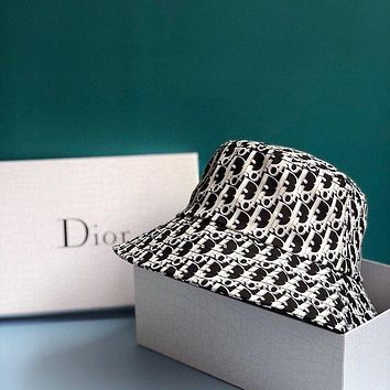 Dior Letter printing couple models Bucket hat