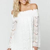 LA Hearts Off The Shoulder Dress - Womens Dress - White