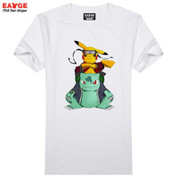 Naruto Pokemon T Shirt Transformative Anime Characters Design T-shirt Men Women Print Tee Cool Fashion Novelty Style Top Tshirt