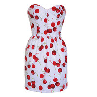 Cherry Print Pin-Up Dress