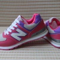New Balance Women Sport Casual Multicolor N Words Breathable Sneakers Running Shoes-1