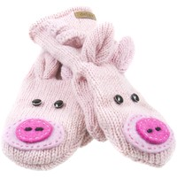 Peaches The Pig Knit Mittens