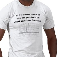 Holy Shift! Look at the asymptote on that function Shirt from Zazzle.com