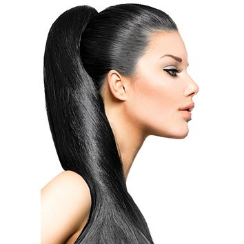 """24"""" Clip In Hair Extensions: No 1 Jet Black"""
