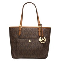 Michael Kors Medium TZ Snap Pocket Tote - Brown