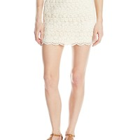 Jolt Juniors' Tiered Crochet Mini Skirt