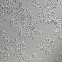 """Brewster Home Fashions Anaglypta Paintable Alfred Supaglypta 33' x 20.5"""" Damask 3D Embossed Wallpaper"""