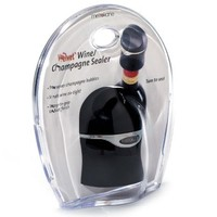 Metrokane Champagne and Wine Sealer (Velvet Black)
