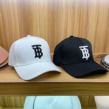 """Burberry"" Unisex All-match Simple TB Letter Embroidery Baseball Cap Couple Casual Peaked Cap Sun Hat"