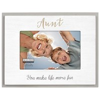 Malden 4X6 Aunt Laser Sentiments photo frame