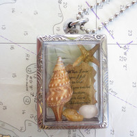 When I Saw you I Fell in Love.... Message in a Bottle Love Poem Message Necklace Beach Theme Gift Locket
