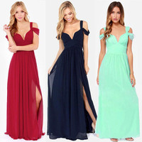 Fashion Hot Popular Sexy Erotic Annivesary Dinner Party Night Prom Long Dress _ 6999