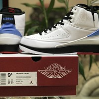 [ Free Shipping ]Nike Air Jordan  2 Retro Converse Fastbreak UNC Alumni Pack Basketball Shoes