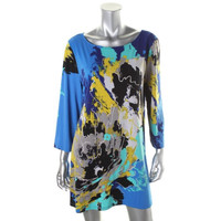 Style & Co. Womens Stretch Printed Tunic Top
