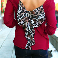 Purrrfect Bow Back Blouse