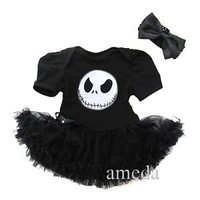 Halloween Baby Nightmare Before Christmas Jack Party Dress Bodysuit Pettiskirt
