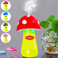 Ultrasonic Cool Mist Humidifier,Dizaul®Mushroom Humidifier 200ml for skin moisturing,stealth mask with No Noise,Waterless Auto Off,LED Lights,Portable for Baby Room,Bedroom,Office,Spa,Yoga,Car(Red)