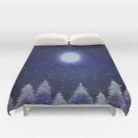 Winter song. Duvet Cover by Nancy Woland
