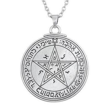 Silver Love Talisman Key of Solomon: Second and Fourth Pentacle of Venus Pendant Necklace