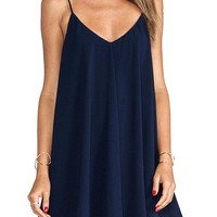 Amstt Navy Cami Club Swing Chiffon Dress