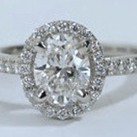 2.02ct F-SI1 Oval Diamond Engagement Ring EGL certified JEWELFORME BLUE