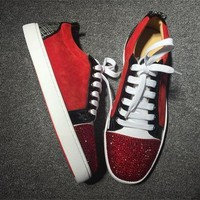 Cl Christian Louboutin Low Style #2040 Sneakers Fashion Shoes