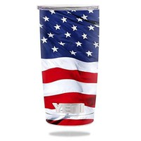Protective Vinyl Skin Decal for YETI 20 oz Rambler Tumbler wrap cover sticker skins American Flag DECAL ONLY