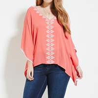 Plus Size Embroidered Top | Forever 21 PLUS - 2000151224