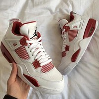 Nike AIR Jordan 4 AJ4 fashion men's and women's casual sports shoes high-top basketball shoes