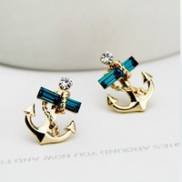 Fashion set auger anchor earring
