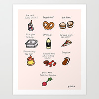 Foods of The Office Art Print by Tyler Feder