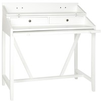 Wyatt Writing Desk W/Pull Out White