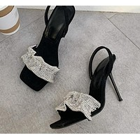 Women Sequins High Heel Fashion Sandals