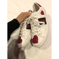 GUCCI Tide brand simple men and women love letter sports casual shoes