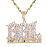 Mens Brothers by Loyalty BBL Baguette Hip Hop Pendant Chain