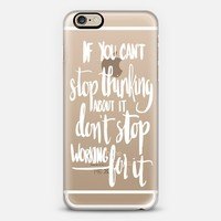 Can't Stop Don't Stop (white) iPhone 6 case by Glitter & Bold   Casetify