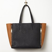Free People Womens Vegan Zipper Tote