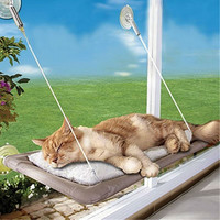 Max 20KG Cat Basking Window Hammock Perch Cushion Bed Hanging Shelf Seat Cat Toys products for cats