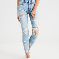 AE Ne(X)t Level Seamless High-Waisted Jegging Crop, Shattered Breeze