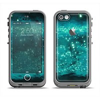 The Trendy Green Space Surface Apple iPhone 5c LifeProof Fre Case Skin Set