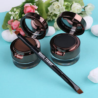 Waterproof 2 In 1 Eyeliner And Eyebrow Cream 24 Hours Wear With Brush