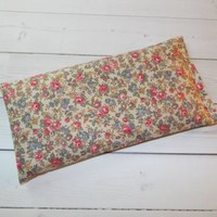 Aromatherapy Eye Pillow - Flax Seed & Lavender -  Little yellow flowers - yoga