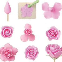 Fondant Cake Sugarcraft Rose Flower Decorating Cookie Mold Gum Paste Cutter Tool