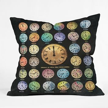 Belle13 A Time For Everything Throw Pillow