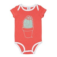 Cactus Succulent Unisex Baby Bodysuit in Orange