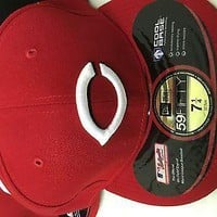 CINCINNATI REDS 5950 MLB FITTED ONFIELD HAT PICK THE HAT YOU WANT SHIPPING