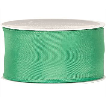 Green Wired Edge Brights Ribbon