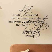 Life Breath Marilyn Quote Lettering Words Removable Vinyl Wall Decal Sticker