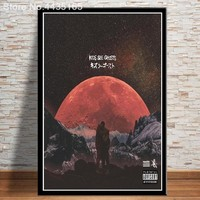 Kids See Ghosts Kanye West Poster Kid Cudi 2018 New Album Posters and Prints Wall Art Living Room Modern Decoration