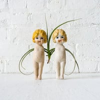 10% SALE Conjoined Air Plant Twins - Vintage Doll Garden